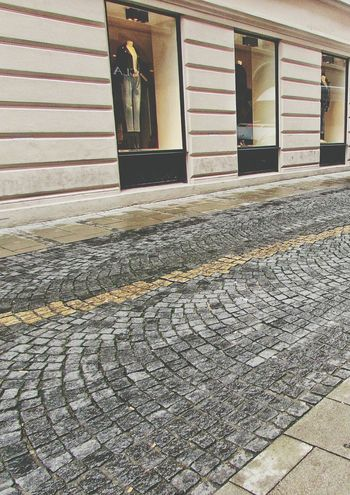 Road Tiles No People Pattern Textured  Munich, Germany Window Shopping Maniquin