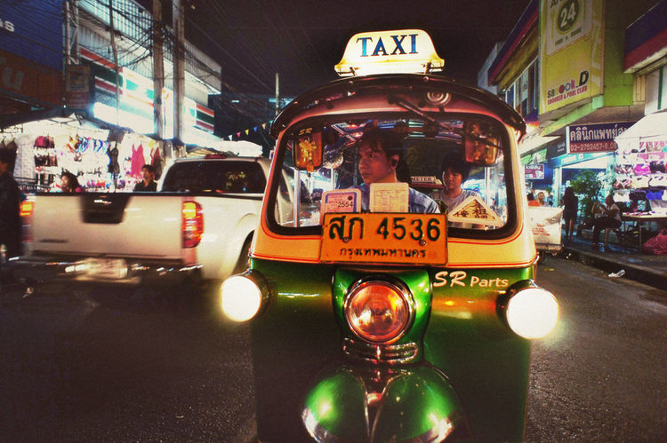 Tuk Tuk ASIA City Life On The Move Passenger Passengers Street Streetphotography Taxi Thai Three Wheeler Town Traffic Trafficenforcer Transport Transportation Traveling Urban SonyNex3 Urban Lifestyle Spotted In Thailand Up Close Street Photography Feel The Journey The Drive