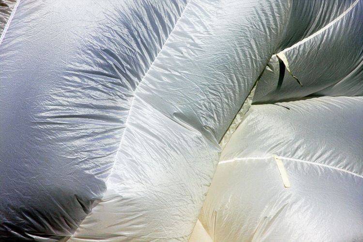 Backgrounds Close-up Day Full Frame No People Outdoors Parachute Textile Textured  White Parachute White Textile