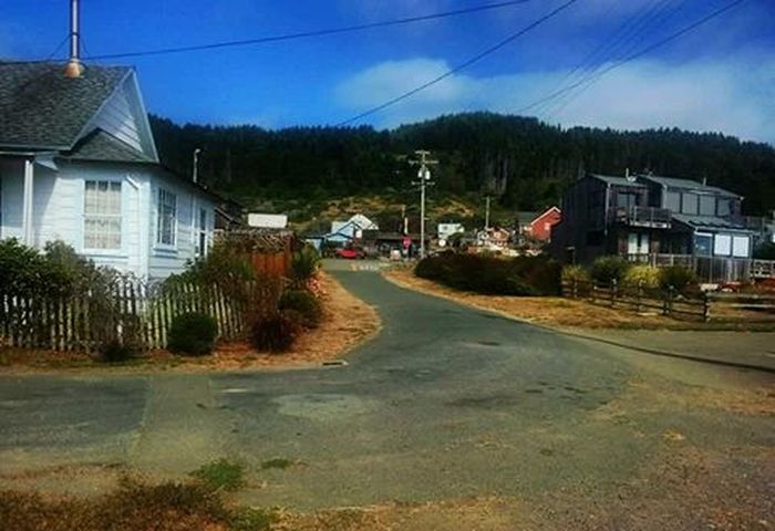 The General Store from a distance, in Westport California from Omega Drive. August 2014.