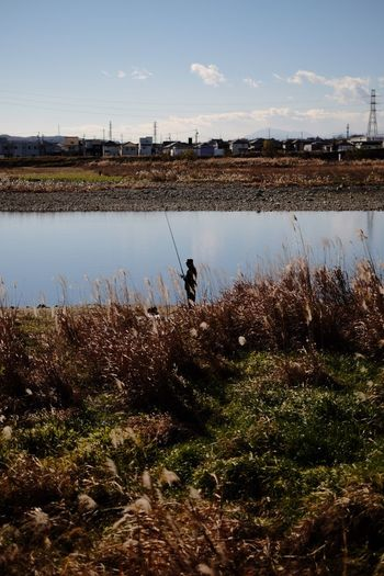 My Year My View Real People Nature Outdoors One Person Beauty In Nature Day Agriculture Scenics Landscape Occupation Mammal Sky River Fisherman Silhouette Snapshot Fujifilm Fujifilm_xseries FUJIFILM X-T10 Pro Neg. Hi The Purist (no Edit, No Filter) Angler Finding New Frontiers