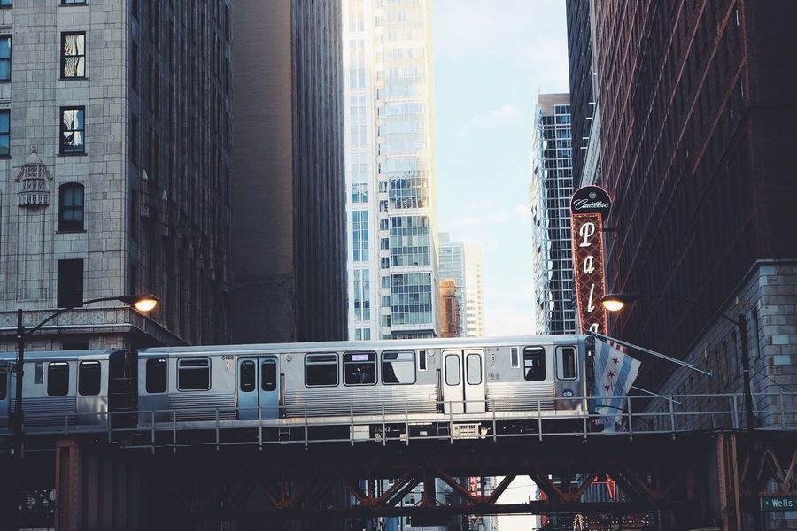 Transportation City Architecture Building Exterior Public Transportation Outdoors Skyscraper Day Chicago Railroad Track Architecture Cities City City Life ChiTown Windycity Downtown Chicago Downtown The Architect - 2017 EyeEm Awards