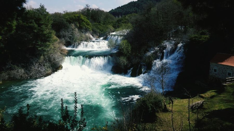 Krka Nature Waterfall Beauty In Nature Tranquility Water