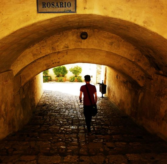One Person Real People Full Length Arch Outdoors One Man Only Materaunesco Matera Street Photography Matera2019 Basilicata, Italy  Matera Basilicata, Italy