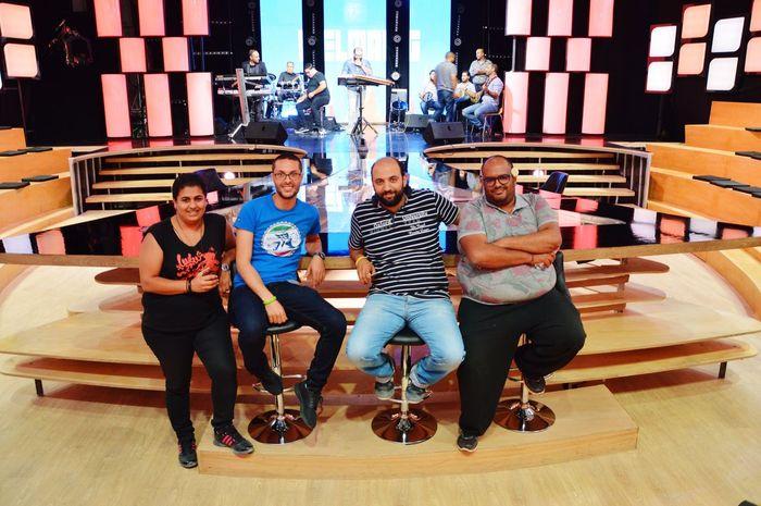 Tv Studio Elmag Working Hard Tunisia Tunis Tunisie Friends
