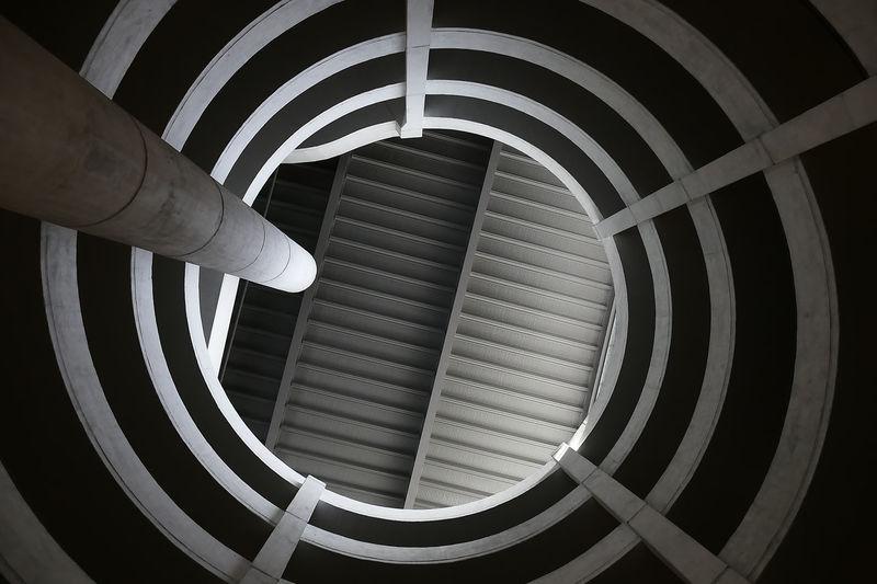 Architecture Built Structure Circle Geometric Shape Low Angle View Modern Parkhaus Tower