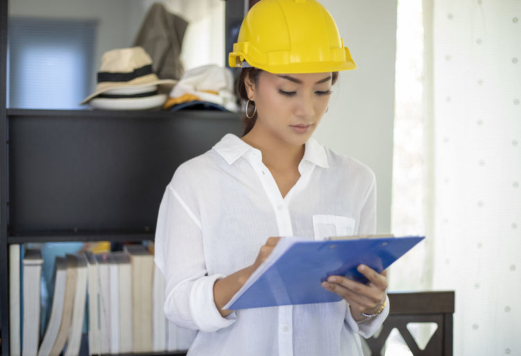 Midsection of woman working