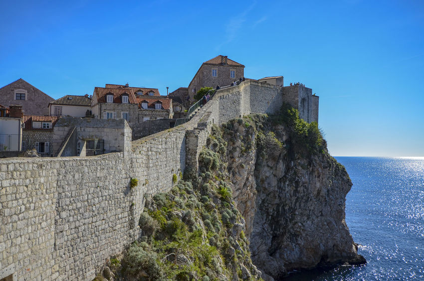 Magnificent Dubrovnik Croatia Dubrovnik Old Town Game Of Thrones King's Landing Turquoise Colored Adriatic Sea Architecture Built Structure Day Dubrovnik Dubrovnik City Walls Fortress By The Sea Game Of Thrones Location Historical Fortress History Kingslanding No People Sea Sea Fortress Stone Wall Travel Destinations Wall Water