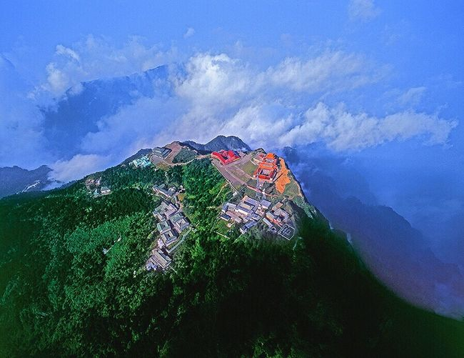 峨眉山之五:这张拍摄于1995年之夏。