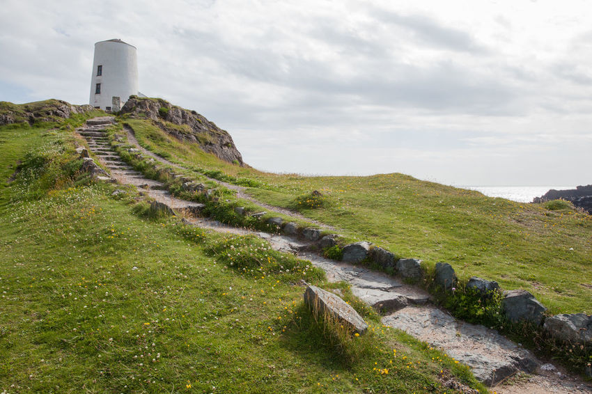 Anglesey Beach Britain Coast Coastline Dwynwen Footpath Gwynedd Island Lighthouse Llanddwyn Island Path Ruins Sea Summer Tidal Wales