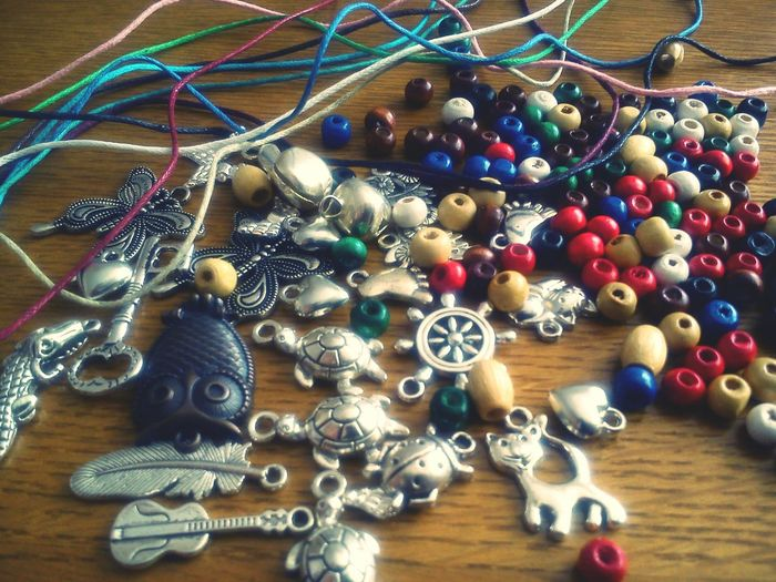 Colours Beads Pendants Handmade Jewellery I'm playing :D