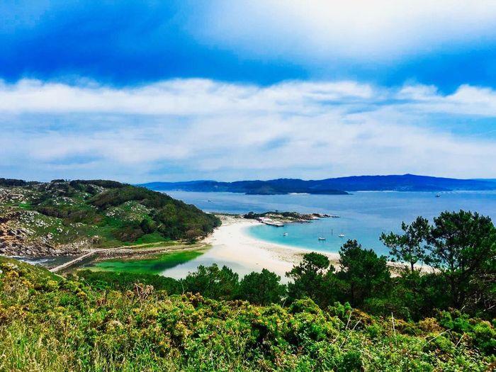 Islas Cies Vigo, Galicia (España) #vigo #galicia #pontevedra #spain #españa Water Sea Nature Beauty In Nature Scenics Cloud - Sky Beach Tranquil Scene Tranquility No People Travel Destinations Landscape