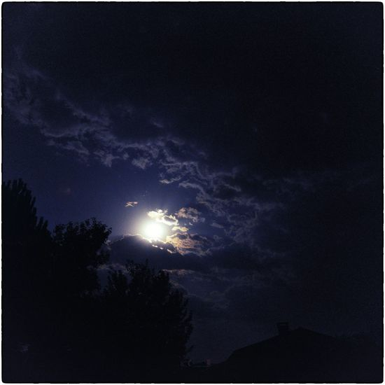 Moonlight Sky And Clouds Sky_collection Blue Night Square Format Lovers