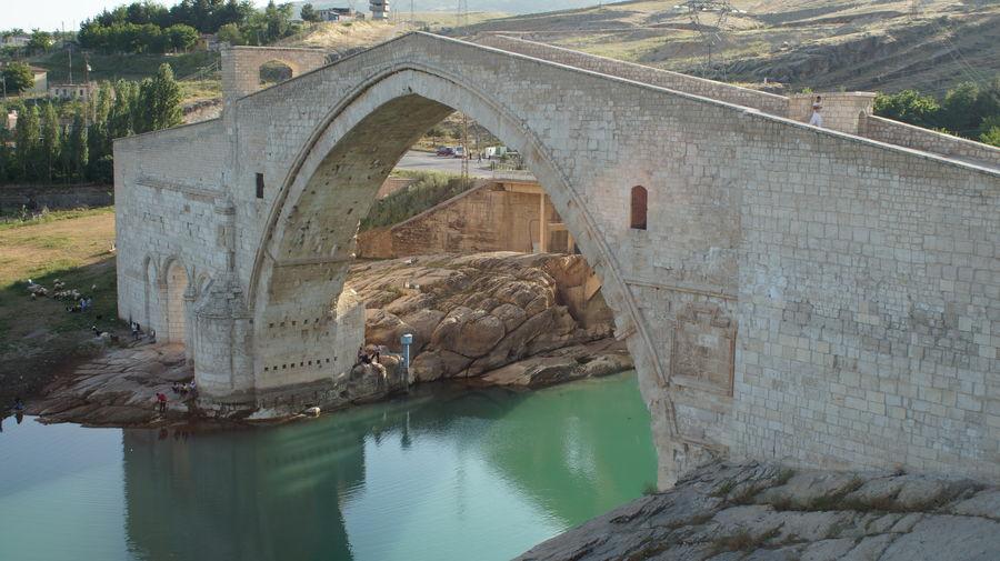 High angle view of malabadi bridge over batman river