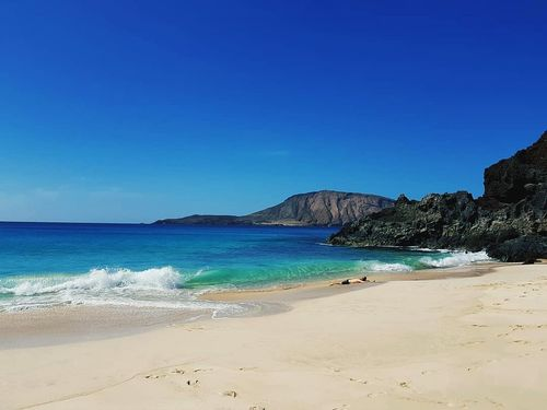 Beach Travel Destinations No People Sunny Beachlovers La Graciosa Honeymoon Sea Ocean Life Blue Sunseeker Canary Islands