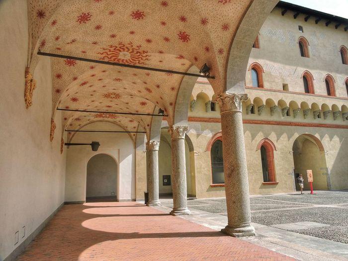 Colonnade In Sforza Castle