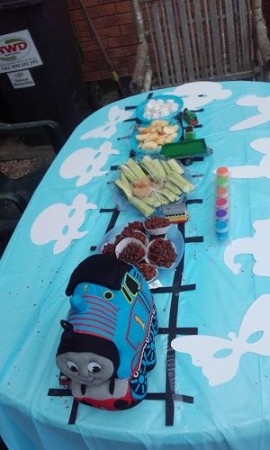 ALL ABOARD! Snacks! 4th Birthday Thomas The Train Theme Setting Easy Idea Brilliant Thomas The Tank Engine Thomas The Train