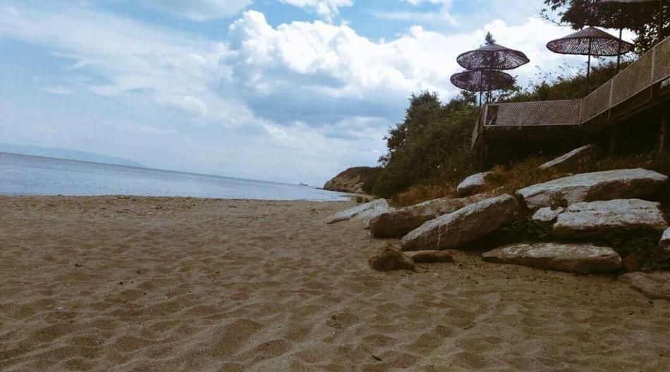 Izmir Urla Sahil Kumsal - Deniz Huzur Sakinlik Life Beach Gel Sandal