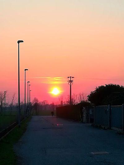Oil Pump Sunset Agriculture Silhouette Tree Sky Romantic Sky