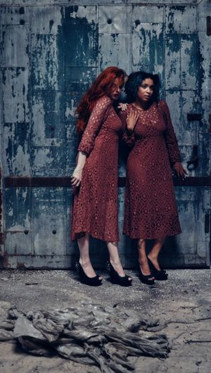 Spectres Two People Two Matching Matching Outfits Dress Lace Abandoned Places Natural Light City Women Young Women Portrait Females