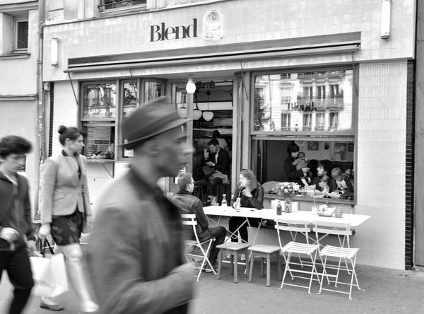 Real People Sidewalk Cafe Day People Cafe Street Women Paris Blackandwhite