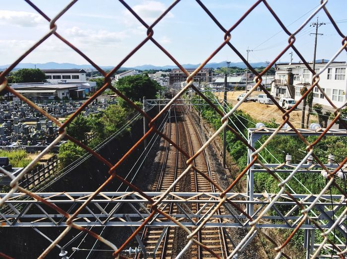 Roadbed Fence Blue Sky Sunny Day Waiting Train Walking Town No People 線路 散歩 Japan The Scenery That Tom Saw Tomの見た世界