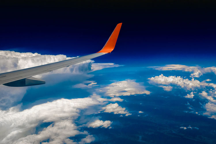 Aerial View Aircraft Wing Airplane Cloud - Sky Day Flying Mountain Nature No People Outdoors Sky Travel Vacations