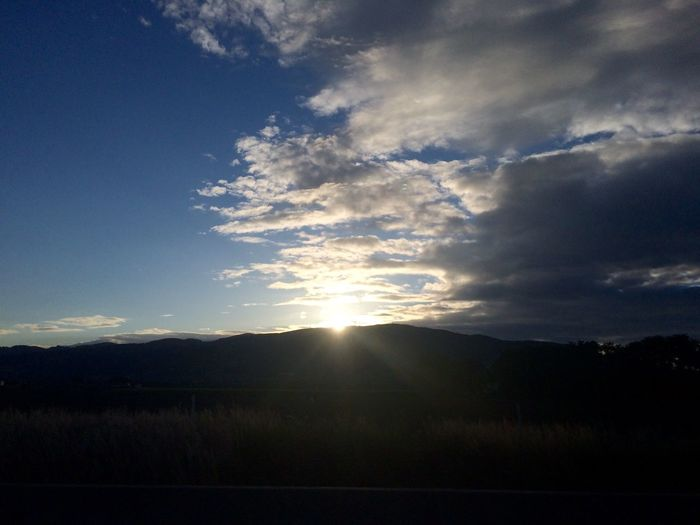 Sky Blue Sky Clouds And Sky Sunset Sun Evening Sky Sky And Clouds