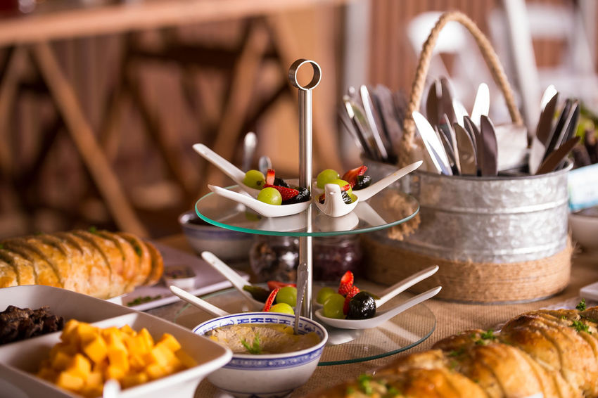Eat Feast Bread Close-up Croissant Cuttlery Food Food And Drink Freshness Fruit Fruit Dessert Fruit Platter Healthy Eating Healthy Food Healthy Lifestyle Indoors  Large Group Of Objects No People Plate Ready-to-eat Sweet Food Table Wedding Food Wedding Table Wedding Table Layout