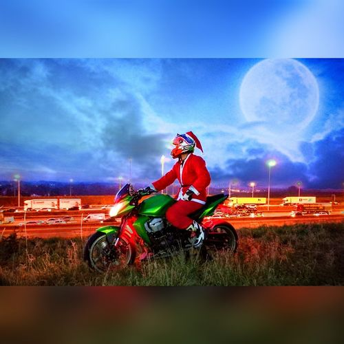 Santaclaus Cloud - Sky Crash Helmet Sky Motorcycle Outdoors Headwear One Person Grass Adults Only Young Adult One Man Only Motorcycle Racing Motorsport Adult People Stadium Only Men Day View Belgium Belgium. Belgique. Belgie. Belgien. Etc. Holiday Kawasaki Kawasakininja