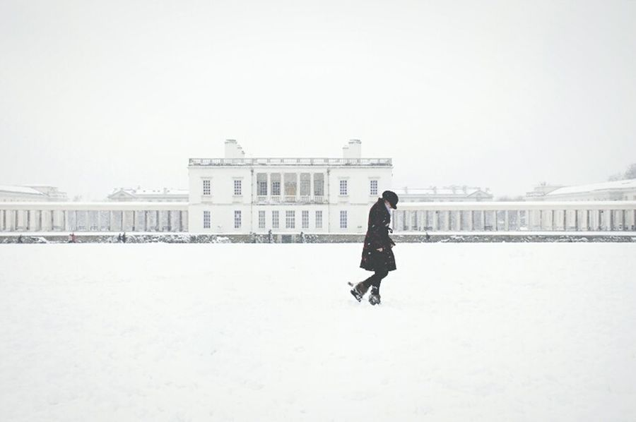 Studies Of Whiteness Snow Woman Alone Walking Eye4photography  Greenwich Park Queens House Winter London