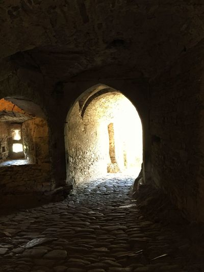 IPhoneography Arch Architecture History Indoors  Built Structure Ancient Tunnel Castle