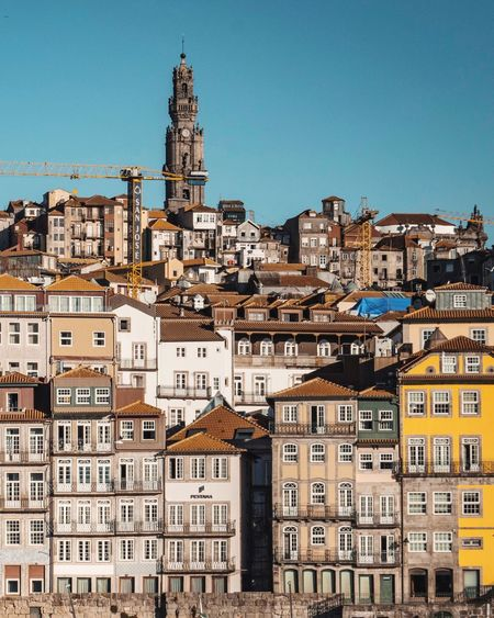 Porto Architecture Clear Sky No People Building Exterior Residential Building Community Outdoors Apartment City Day Cityscape Sky Porto Porto Portugal 🇵🇹 Portugal