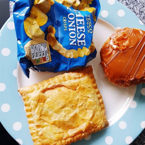 3 moments of happiness! Donuts Crisps Pasty Moments Of Happiness Blue Close-up Food And Drink Savory Pie