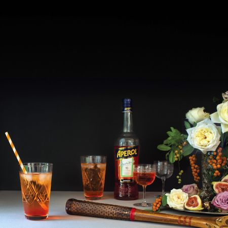 A little job I did a while back. Cocktail Vintage Aperol Aperolspritz Roses Crystal Vignette Alchohol Taking Photos