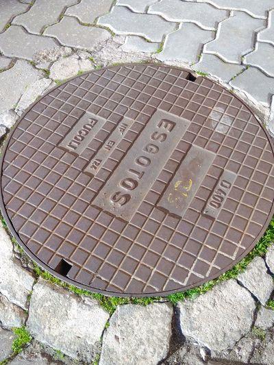 Hopscotch Manhole  Communication Sewage High Angle View Text Western Script