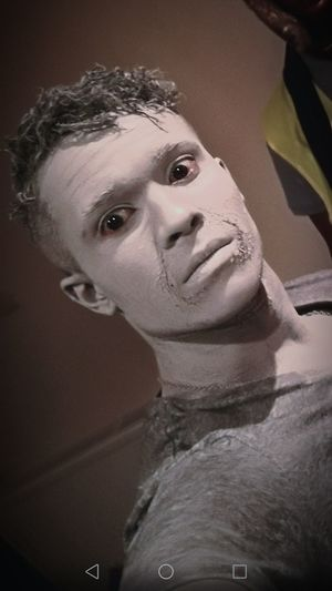 Me Remember The Wife Of Lot Salt Pilar Full Body Makeup Movie Makeup Makeup Grey Men Headshot Mud