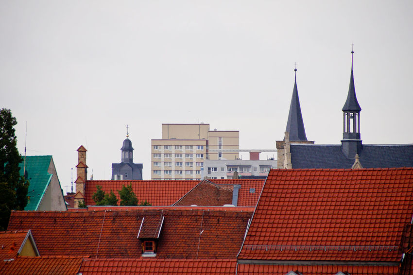 Cityscape Dom Jahrmarkt Postcode Postcards Rethink Things Second Acts Architecture Building Exterior Built Structure City Clear Sky Day Dome No People Outdoors Place Of Worship Red Roof Sky Spirituality Tiled Roof  Tree