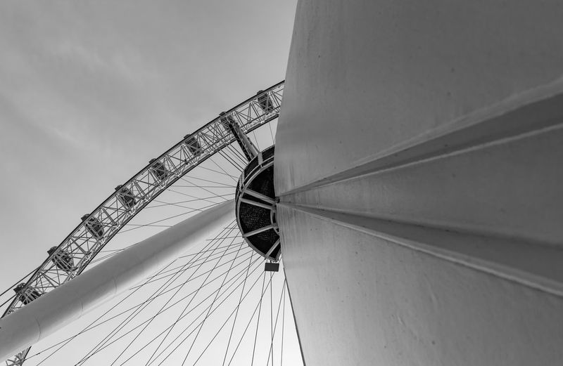 London eye England, UK Great Britain LONDON❤ London London Eye Low Angle View United Kingdom Amusement Park Amusement Park Ride Arts Culture And Entertainment Black And White Bw Close-up Day England Fairground Ferris Wheel Low Angle View Metal Metal Structure No People Outdoors Steel Tall - High Uk A New Beginning 50 Ways Of Seeing: Gratitude
