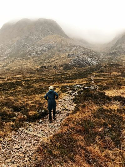 Mountain One Person Full Length Leisure Activity Beauty In Nature Scenics - Nature Real People Lifestyles Non-urban Scene Nature Environment Hiking Landscape Tranquil Scene Tranquility Mountain Range Outdoors Glencoe Scotland Highlands Of Scotland
