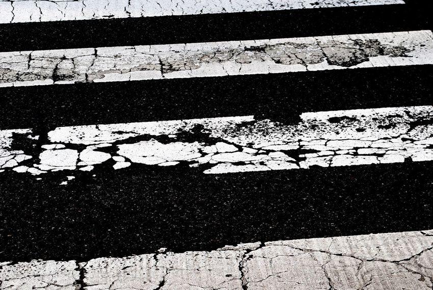 Street Road Crosswalk Monochrome Blackandwhite