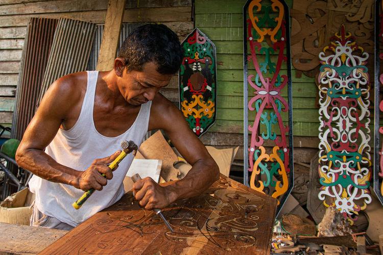 Dayak artist