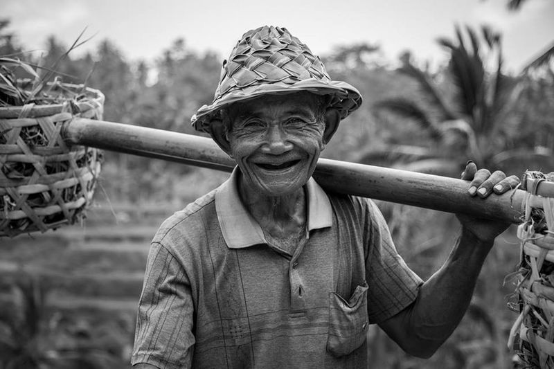 B&W Portrait Bali Travel