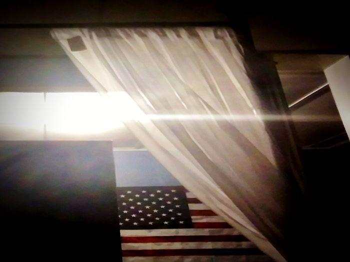 American life Indoors  Light Beam Night Illuminated No People American Dream American Flag First Eyeem Photo