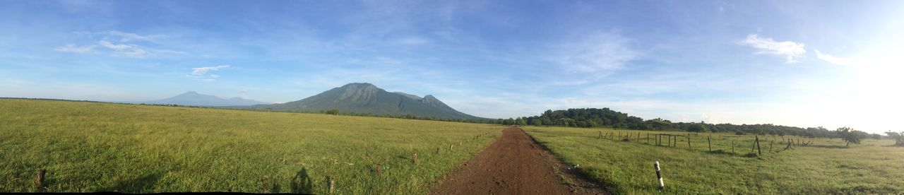 Africa van java Tranquil Scene Landscape Scenics Sky Panoramic Mountain Tranquility Grass Travel Destinations Green Color Non-urban Scene Solitude Tourism Beauty In Nature Remote Nature Green Cloud Iphone5s Blue Savanah Savanabekol Indonesia_photography Visitindonesia