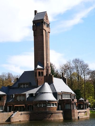"""""""One 'jachtslot' Sint Hubertus"""" Architecture History Cloud - Sky No People Sky Built Structure Building Exterior Clock Tower Day Outdoors"""