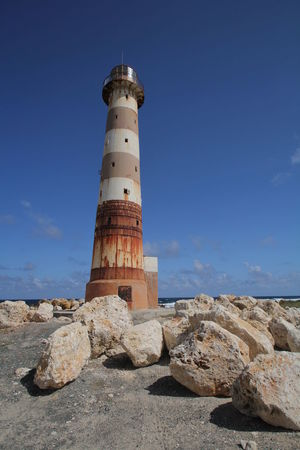 Lighthouse at Morant Point (Jamaica) Lighthouse Morant Point Morant Point, Jamaica Parish: St. Thomas West Indies Blue Sky Jamaica Navigation Tower