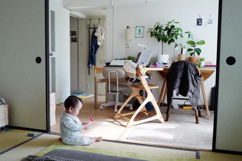 Child Childhood Full Length Indoors  Home Interior Sitting One Person