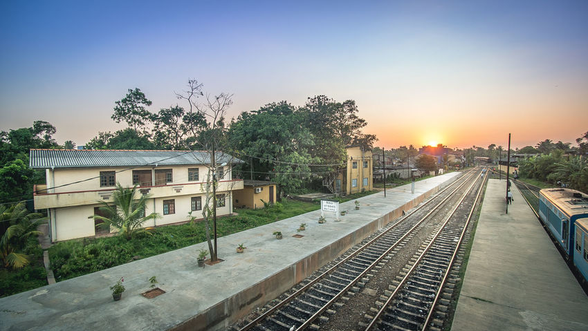 Outdoors Sonyimages The Street Photographer - 2017 EyeEm Awards Panoramic Photography SonyA7s The Architect - 2017 EyeEm Awards Built Structure The Great Outdoors - 2017 EyeEm Awards Travel Photography Architecture Sri Lanka Solitude First Eyeem Photo No People Matararailway train Train Railway Sunset Station An Eye For Travel