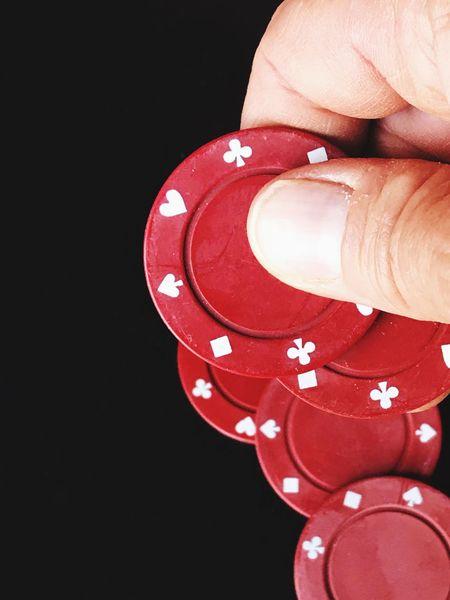 Human Hand Human Finger Close-up Black Background Red Indoors  Casino Night Poker Night Casino Stack Luck Chance Poker Chips Poker Gambling Chip Gambling Ante Up Studio Shot